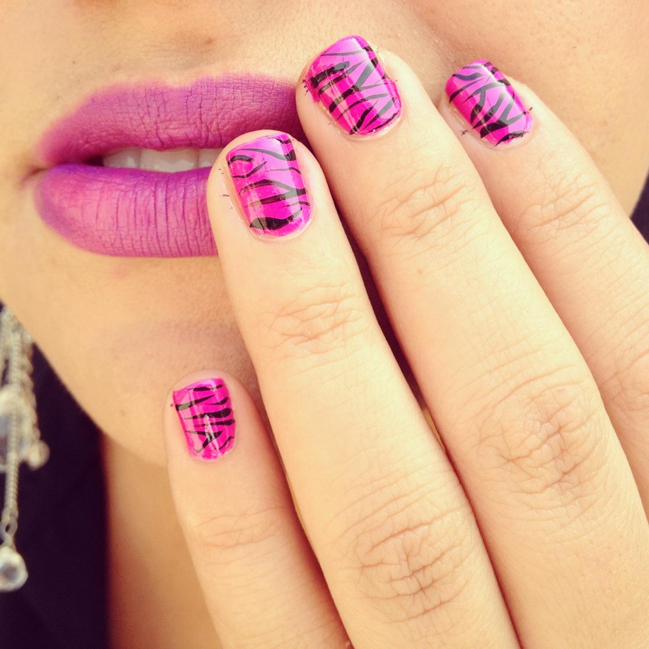 Easy Nail Designs Pink And Black Best Image Webproxp
